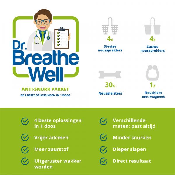 Dr. Breathe Well Anti Snurk Neusspreider Pakket